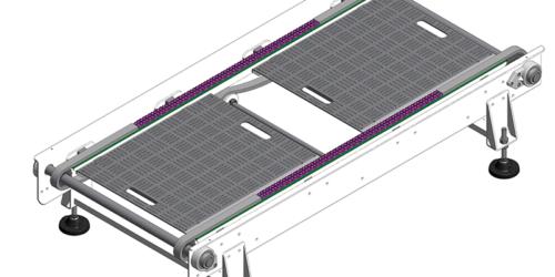 Convoyeur à chaine pour palettes 3D