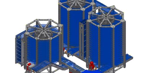 Implantation spirale plan 3D