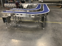 convoyeur modulaire courbe